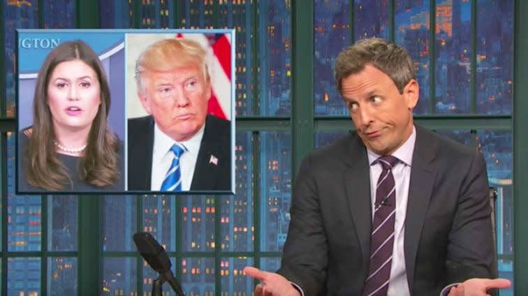 Seth Meyers: Trump's 'Unhinged' Tweets Are Haunting His Staff