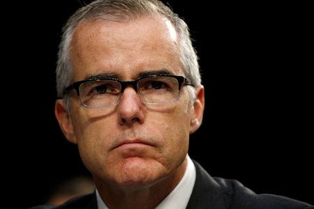 FILE PHOTO: Acting FBI Director McCabe, testifies before a Senate Intelligence Committee hearing on Capitol Hill in Washington