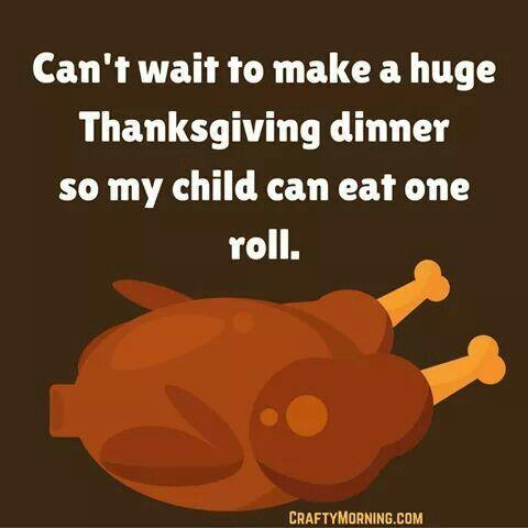 """<p>Maybe it's okay if the kids barely touch their plates, because then there are more <a href=""""https://www.goodhousekeeping.com/holidays/thanksgiving-ideas/g2763/leftover-stuffing-recipes/"""" rel=""""nofollow noopener"""" target=""""_blank"""" data-ylk=""""slk:leftovers"""" class=""""link rapid-noclick-resp"""">leftovers</a> for the next few days!</p><p><em><a href=""""https://www.goodhousekeeping.com/holidays/thanksgiving-ideas/g1471/leftover-turkey-recipes/"""" rel=""""nofollow noopener"""" target=""""_blank"""" data-ylk=""""slk:RELATED: 20 Leftover Turkey Recipes You Can Make in 60 Minutes or Less"""" class=""""link rapid-noclick-resp"""">RELATED: 20 Leftover Turkey Recipes You Can Make in 60 Minutes or Less</a></em></p>"""