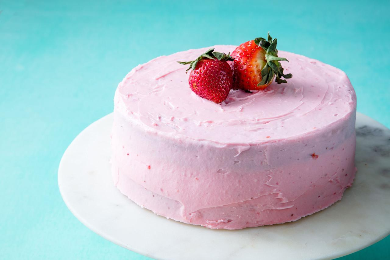 "<p>Strawberry season is the best excuse to bake a cake. Plus, get more <a rel=""nofollow"">amazing strawberry dessert ideas</a>, from <a rel=""nofollow"">cheesecakes</a> to <a rel=""nofollow"">pies</a>.</p>"
