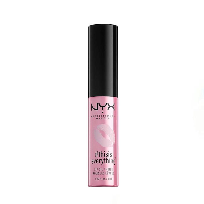 """NYX is one of the <a href=""""https://www.glamour.com/gallery/beauty-awards-drugstore-makeup-product-winners?mbid=synd_yahoo_rss"""" rel=""""nofollow noopener"""" target=""""_blank"""" data-ylk=""""slk:best drugstore brands"""" class=""""link rapid-noclick-resp"""">best drugstore brands</a> in the game, and customers feel strongly about this vanilla cherry blossom scented blend of almond, rosehip, and jojoba oils. According to 1,500+ five-star Amazon reviews, it really is everything (as is that $5 price point). $6, Amazon. <a href=""""https://www.amazon.com/NYX-PROFESSIONAL-MAKEUP-ThisIsEverything-Ounce/dp/B079KW86CZ"""" rel=""""nofollow noopener"""" target=""""_blank"""" data-ylk=""""slk:Get it now!"""" class=""""link rapid-noclick-resp"""">Get it now!</a>"""
