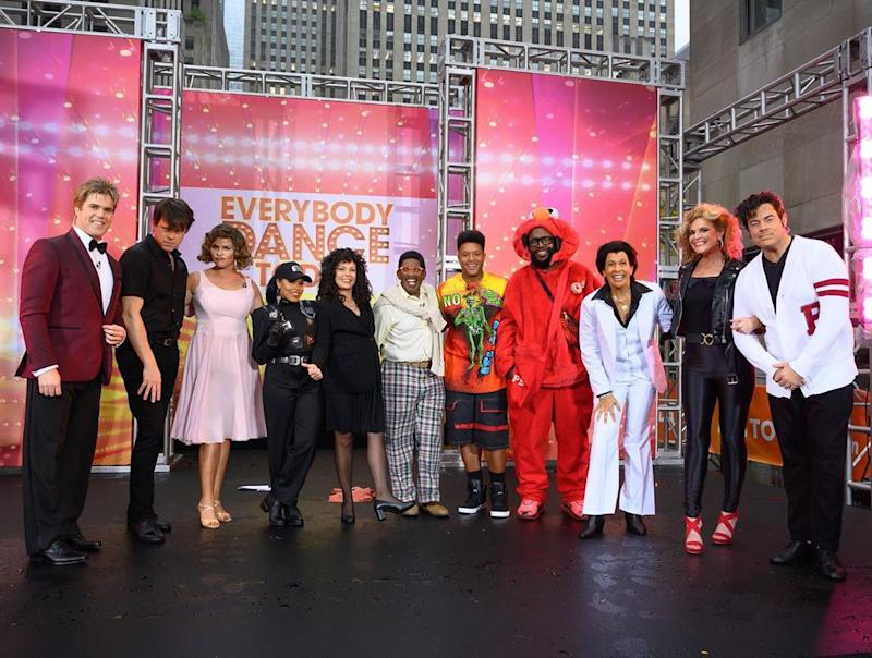The 'Today' gang dressed up in honor of seven iconic dance moments for their big Halloween reveal. (Photo: Instagram/Today)