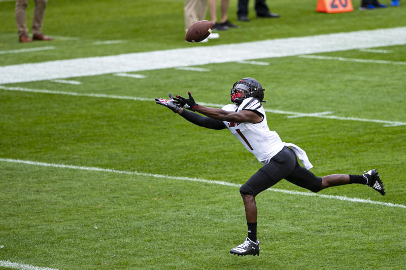 Louisville wide receiver Tutu Atwell has game-changing speed, even if he's not getting the ball a ton. (Photo by Mark Alberti/Icon Sportswire via Getty Images)