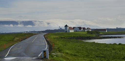 Johannesson appeared to be headed back to the president's 'Bessastadir' residence in Alftanes, Iceland