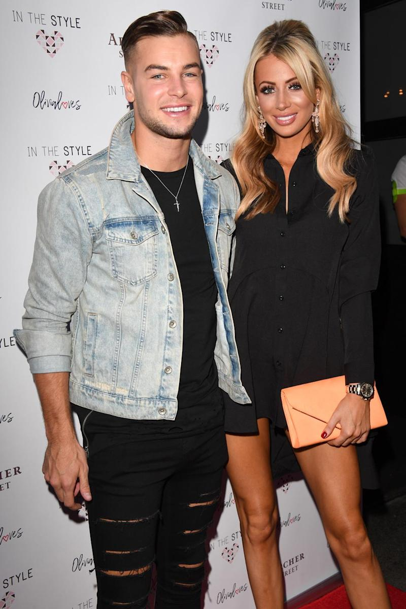Supportive: Olivia Attwood's boyrfriend Chris Hughes (Stuart C. Wilson/Getty)