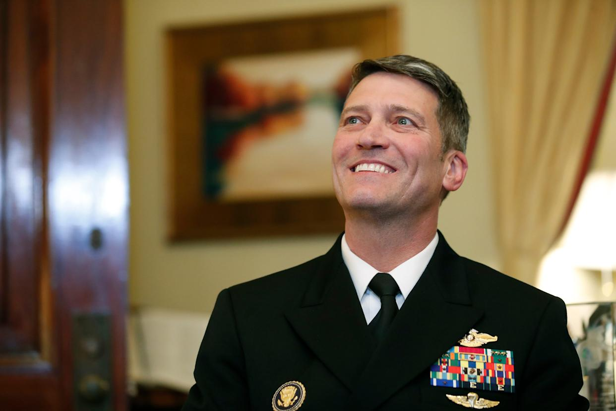 U.S. Navy Rear Admiral Ronny Jackson, who served as physician to the president, pulled his nomination to become Veterans' Affairs Secretary amid criticism that he lacked management experience and accusations by colleagues that he improperly dished out opioids, drank on the job and fostered a hostile work environment.