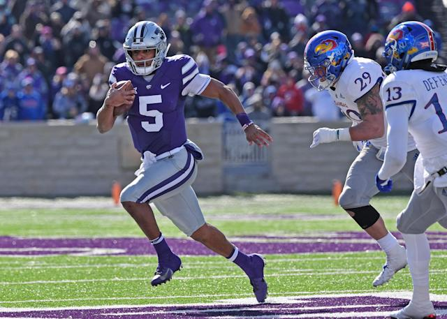 Alex Delton, a graduate transfer from Kansas State, will open the season as TCU's starting quarterback. (Photo by Peter G. Aiken/Getty Images)