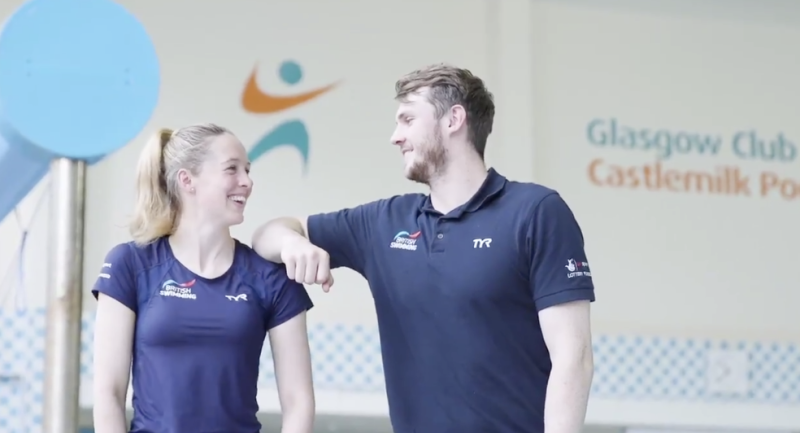 Ross Murdoch (right) and fellow Scottish swimmer Hannah Miley are looking forward to home water advantage