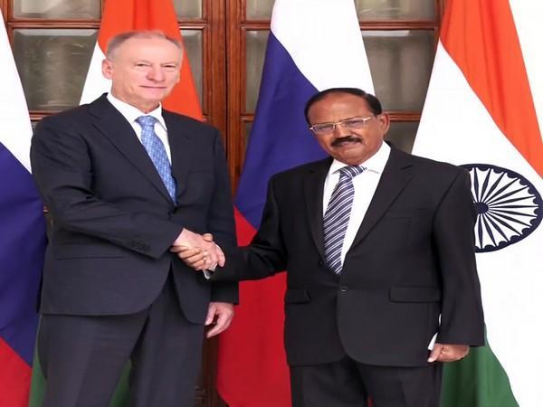 Secretary of the Security Council of Russian Federation General Nikolay Patrushev and National Security Advisor Ajit Doval
