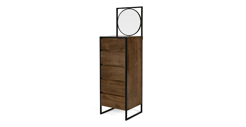 Rena Tall Vanity Chest of Drawers, Mango Wood and Black Metal, Made (Photo: HuffPost UK)