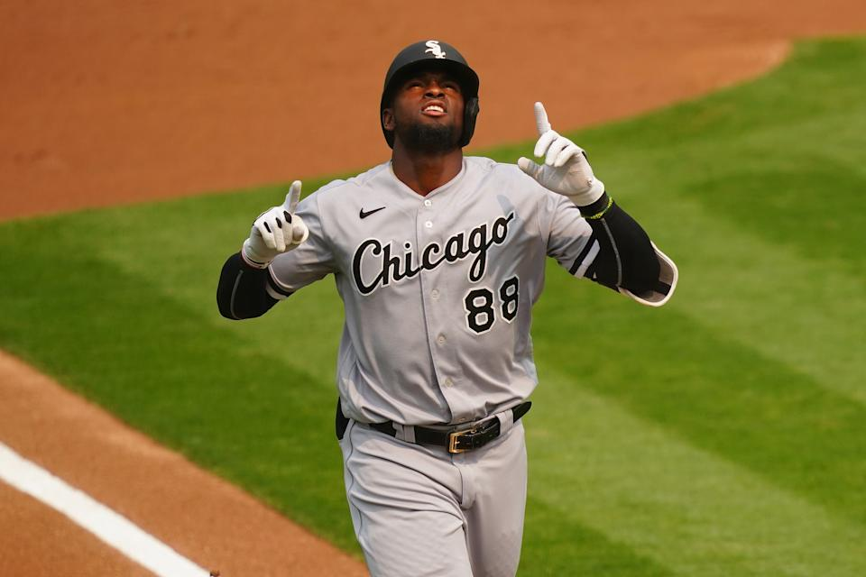 Things are looking up for Luis Robert and the White Sox. (Photo by Daniel Shirey/MLB Photos via Getty Images)