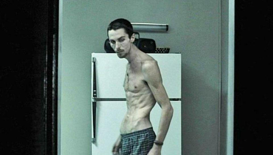 Bale lost 62 pounds for The Machinist, leaving his weight at just 8.5 stone (Paramount)