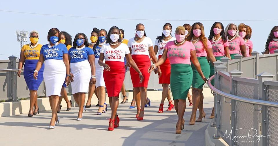 Women from the Divine 9 take part in Stroll to the Polls movement. (Photo: Mario Page Photography)