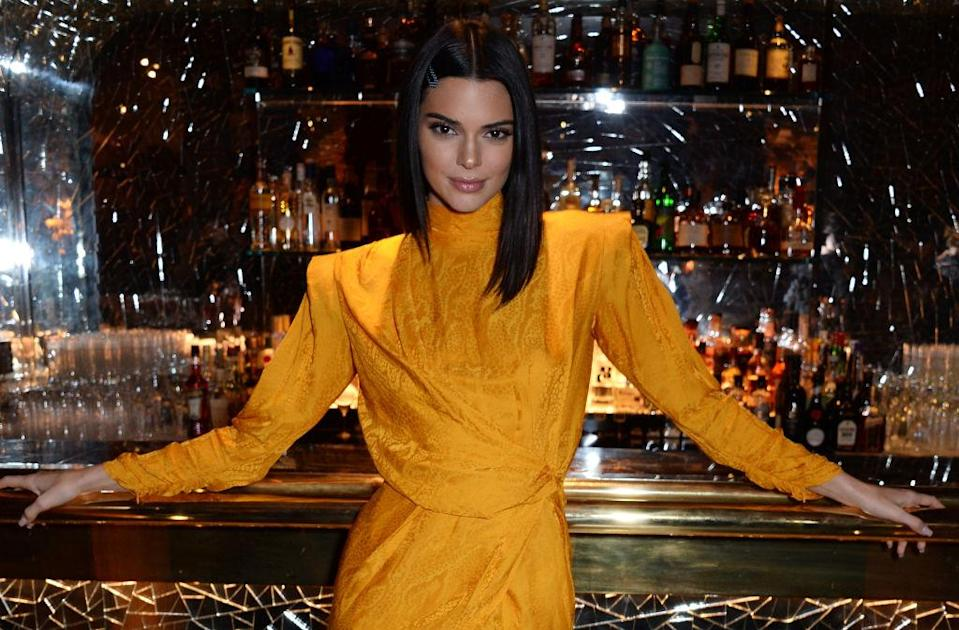 Kendall Jenner parties on Nov. 15, 2018, in London. (Photo: David M. Benett/Getty Images for Chaos SixtyNine)