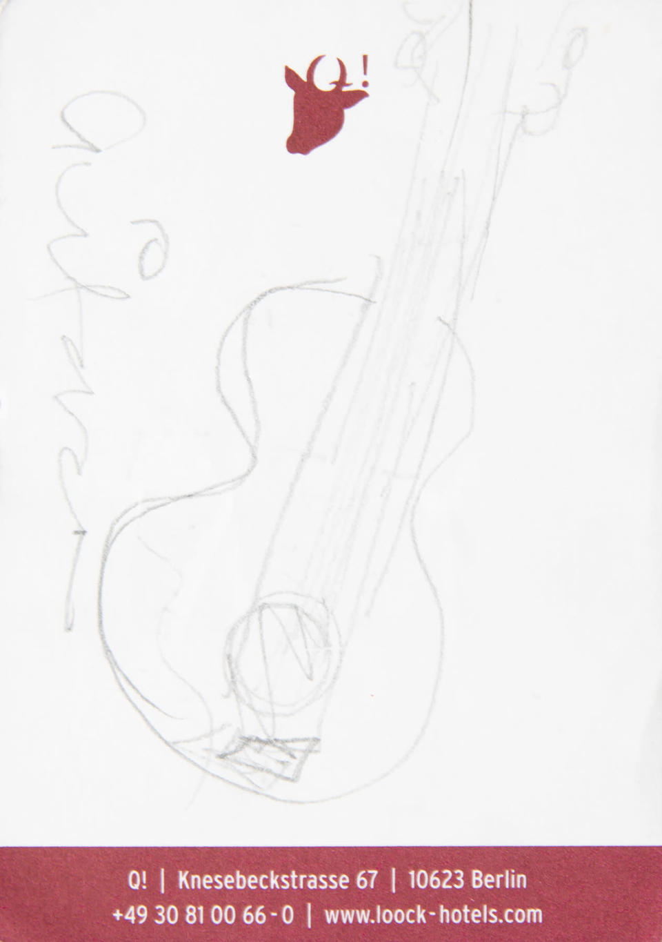 A sketch by Amy Winehouse being sold at auction