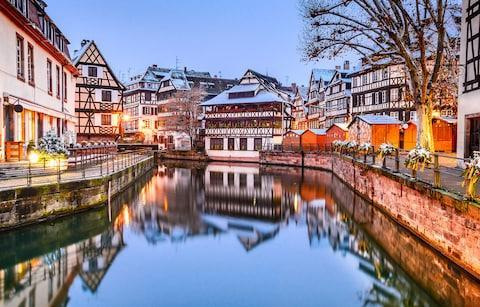 <span>Strasbourg's traditional buildings look particularly charming in winter</span> <span>Credit: iStock </span>