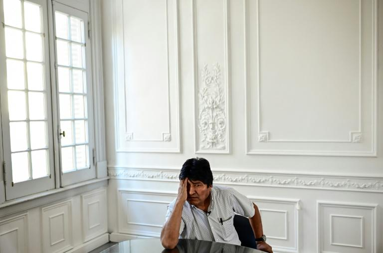 Bolivia's ex-President Evo Morales during an interview with AFP in Buenos Aires, on December 24, 2019