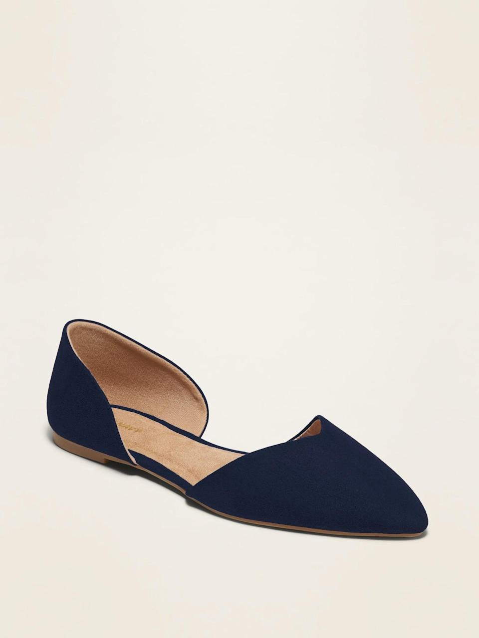 <p>These <span>Pointy-Toe D'Orsay Flats</span> ($15, originally $30) will finish off your looks with a touch of easy sophistication.</p>