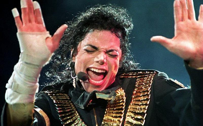 Michael Jackson performing during his