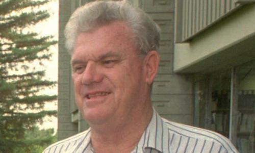 Richard Taylor in 1995. Following his breakthrough on quarks, he continued to work on electron-scattering experiments for many years.