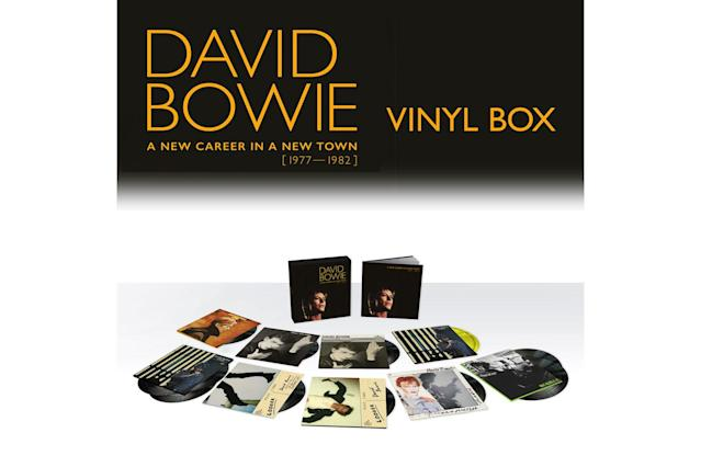 "<p>A 13-LP vinyl or 11-CD package focusing on Bowie's <em>Berlin Trilogy</em>, recorded with producers Tony Visconti and Brian Eno, this is the third box of Bowie works following the 2015 set focusing on his Ziggy period and a mid-'70s set that focused on <em>Diamond Dogs</em>, <em>Young Americans</em>, and <em>Station to Station</em>. This set includes Visconti's remix of 1979's <em>Lodger </em>and the <em>Baal</em> EP, released in full for the first time in CD. Along with the full albums, <em>New Career</em> includes <em>Re:Call 3</em>, featuring single versions, non-album singles and B-sides, and German and French versions of songs. This was one of Bowie's most experimental and interesting periods, and its influence can be heard in a number of still-contemporary artists, including Nine Inch Nails and LCD Soundsystem. But take note: There have been some complaints about the sound quality, particularly with the ""Heroes"" disc. A note on DavidBowie.com says a new master will be created to replace the original. New versions of the vinyl and CD will be offered to those with proof of purchase. (Photo: Parlophone Music Denmark) </p>"