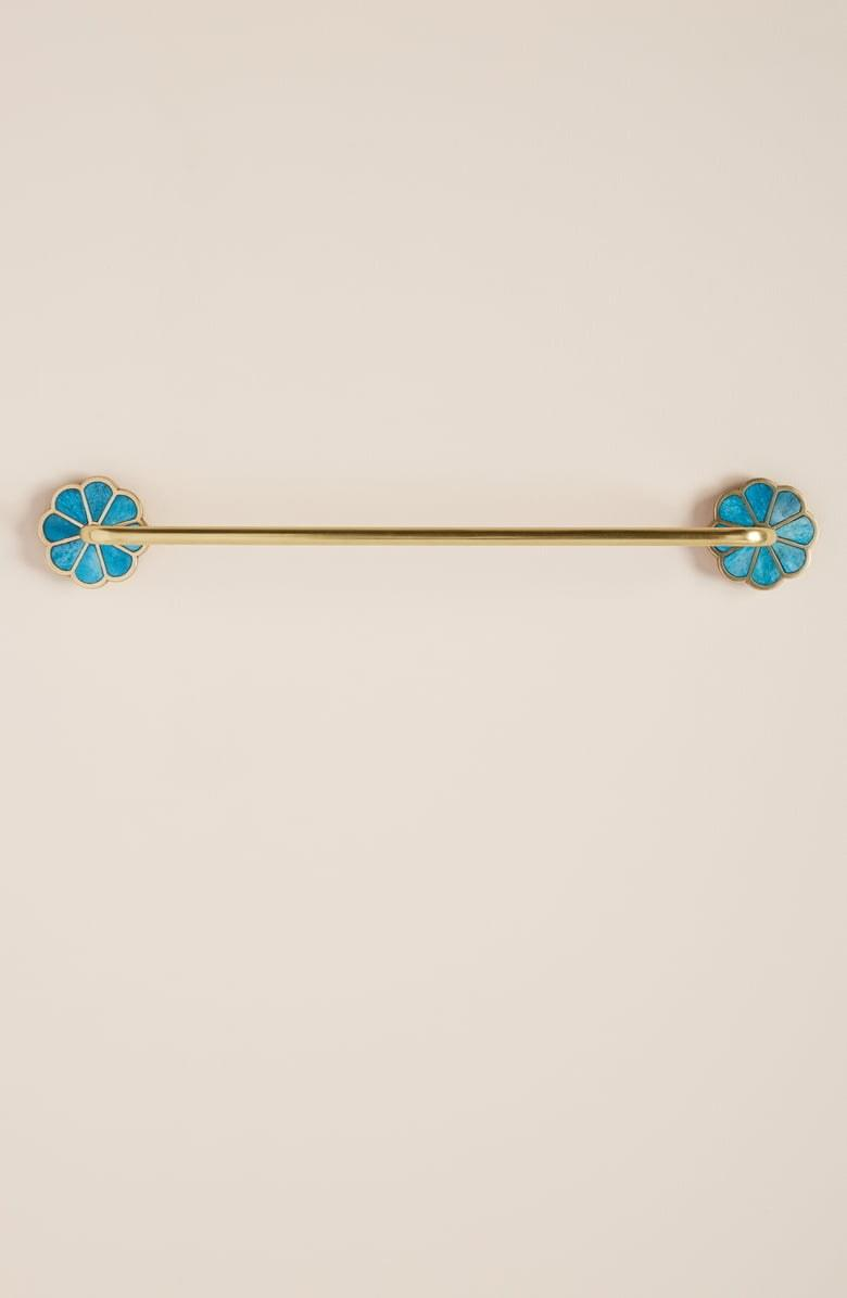 A shiny brass towel bar with turquoise flowers to spruce up your bathroom. Also available with white bone accents. SHOP NOW: Botanist Towel Bar by Anthropologie, from $34 $68, shop.nordstrom.com