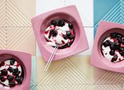 "We usually rail against kitchen tools that do only one thing and take up precious drawer space, but cherry pitters earn their keep as far as we are concerned. <a href=""https://www.bonappetit.com/recipe/cherry-compote-with-honey-yogurt?mbid=synd_yahoo_rss"" rel=""nofollow noopener"" target=""_blank"" data-ylk=""slk:See recipe."" class=""link rapid-noclick-resp"">See recipe.</a>"