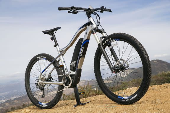 A mountain bike with electric capability.