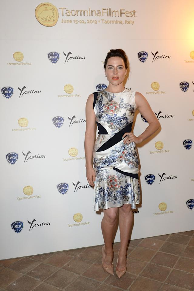 TAORMINA, ITALY - JUNE 15: Antje Traue attends at the Lancia Cafe during the Taormina Filmfest 2013 on June 15, 2013 in Taormina, Italy. (Photo by Valerio Pennicino/Getty Images for Lancia)