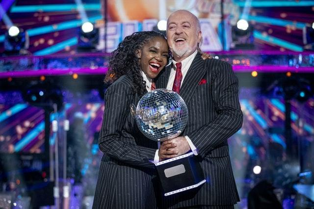 Strictly Come Dancing winners Bill Bailey and Oti Mabuse