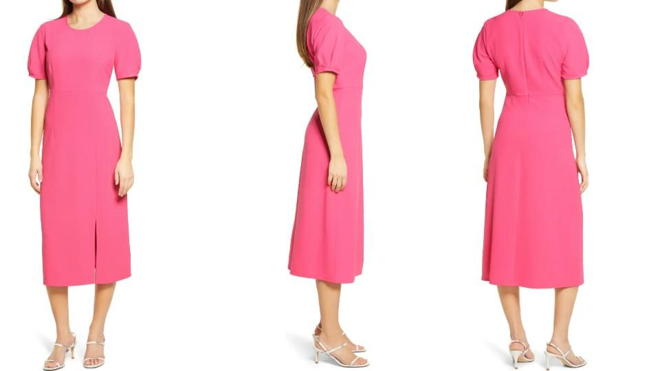 Chelsea28 Pleat Sleeve Midi Dress - Nordstrom, $40 (originally $99)