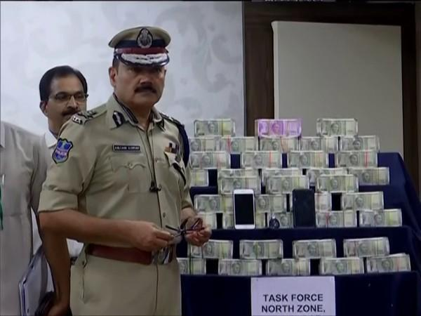 Rs 1 crore cash was seized from the brother-in-law of BJP candidate Raghunandan Rao. (Photo/ANI)