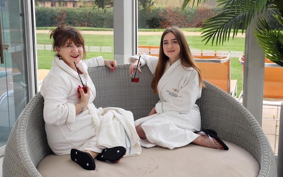 Judith Woods and her daughter Lily at Champneys in Tring - John Lawrence