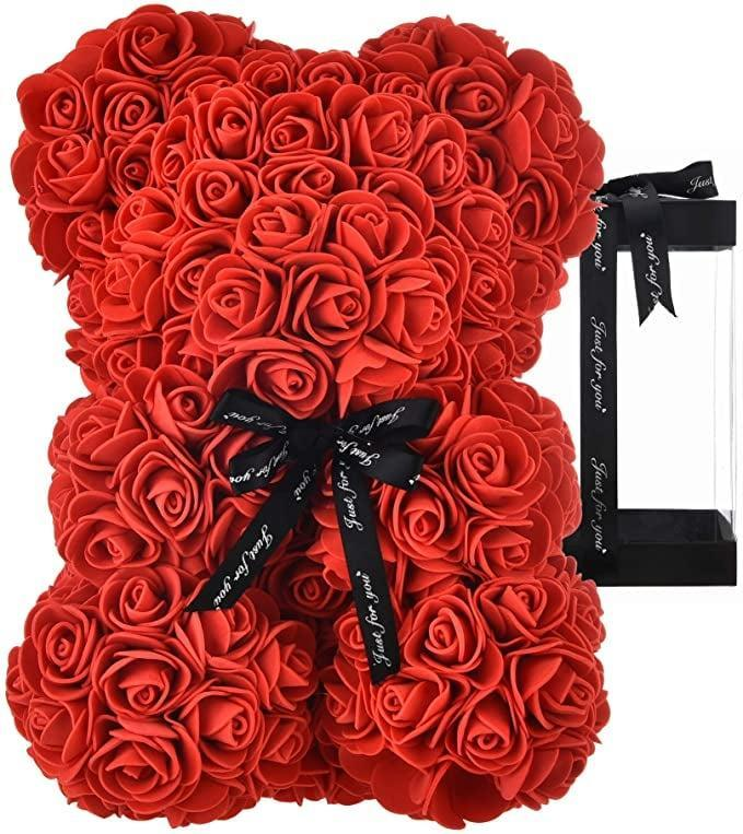 <p>You can't go wrong with a gorgeous set of roses. The <span> Rose Teddy Bear</span> ($27) take roses to a whole new level!</p>