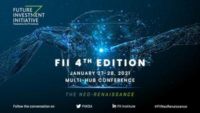 The FII Institute will host the 4th edition of the Future Investment Initiative (FII) on January 27-28 at the King Abdul Aziz International Conference Center (KAICC) in Riyadh, with speakers and audiences joining physically and virtually from FII satellites in New York, Paris, Beijing, and Mumbai. (PRNewsfoto/FII Institute)