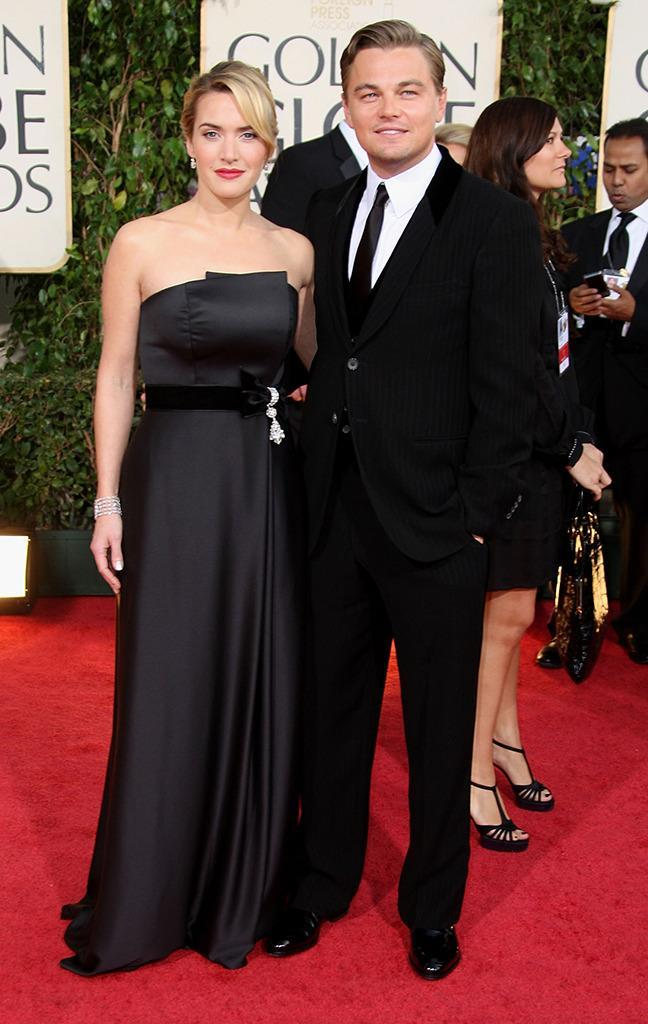 <p>DiCaprio escorted his nominated costar to the 66th Annual Golden Globe Awards held at the Beverly Hilton Hotel on January 11, 2009. (Photo: Frazer Harrison/Getty Images) </p>