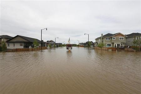 Home are still under water a week after major flooding hit High River