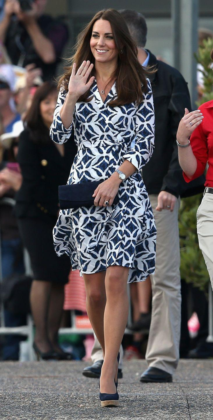 """<p>The wind doesn't seem to be on Kate's side when she's making public appearances. Again, she experienced a <a href=""""https://www.marieclaire.com/culture/g14516650/royal-family-pr-scandals/?slide=23"""" rel=""""nofollow noopener"""" target=""""_blank"""" data-ylk=""""slk:flying dress wardrobe malfunction"""" class=""""link rapid-noclick-resp"""">flying dress wardrobe malfunction</a> in 2014—only this time, a German tabloid published the photos of her bare bottom. The Palace was understandably furious, calling it a """"grotesque"""" invasion of privacy. </p>"""
