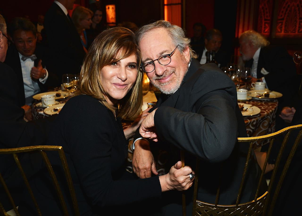 CULVER CITY, CA - JUNE 07: Sony co-chairman Amy Pascal and director Steven Spielberg attends the 40th AFI Life Achievement Award honoring Shirley MacLaine held at Sony Pictures Studios on June 7, 2012 in Culver City, California. The AFI Life Achievement Award tribute to Shirley MacLaine will premiere on TV Land on Saturday, June 24 at 9PM ET/PST.  (Photo by Frazer Harrison/Getty Images for AFI)