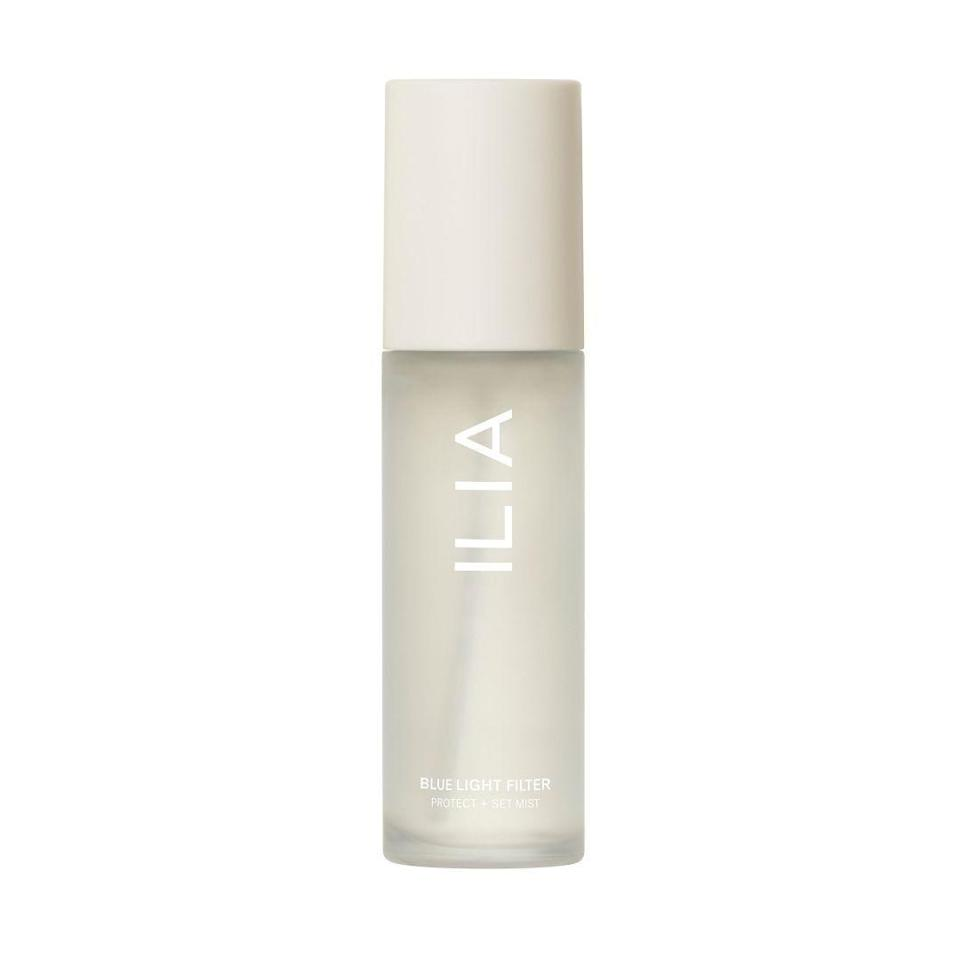"""<p><strong>ILIA</strong></p><p>sephora.com</p><p><strong>$18.00</strong></p><p><a href=""""https://go.redirectingat.com?id=74968X1596630&url=https%3A%2F%2Fwww.sephora.com%2Fproduct%2Filia-blue-light-filter-protect-set-mist-P471245&sref=https%3A%2F%2Fwww.marieclaire.com%2Fbeauty%2Fg36111345%2Fface-mists%2F"""" rel=""""nofollow noopener"""" target=""""_blank"""" data-ylk=""""slk:SHOP IT"""" class=""""link rapid-noclick-resp"""">SHOP IT </a></p><p>We stare at our laptops and phones all day long, which means near-constant exposure to blue light. This protective spray will prevent future damage from environmental aggressors.</p>"""