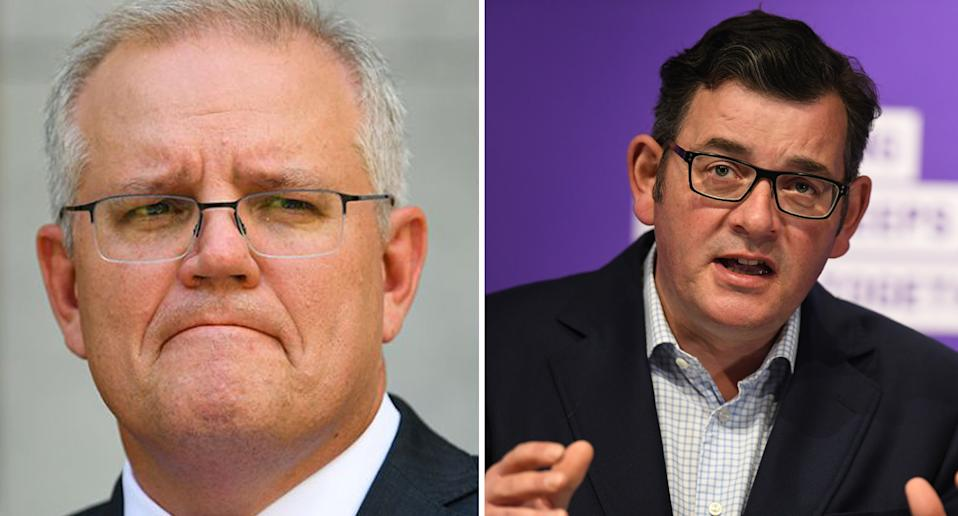 Scott Morrison has taken aim at Victorian Premier Dan Andrews, who delayed announcing any easing of restrictions due to an outbreak in Melbourne's northern suburbs. Source: AAP