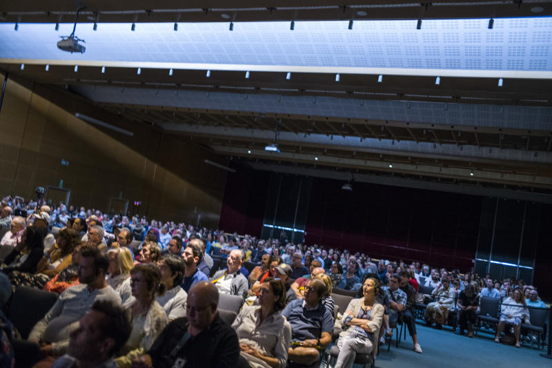 The crowd at the Ufology World Congress 2019 in Barcelona, Spain. (Photo: José Colon for Yahoo News)
