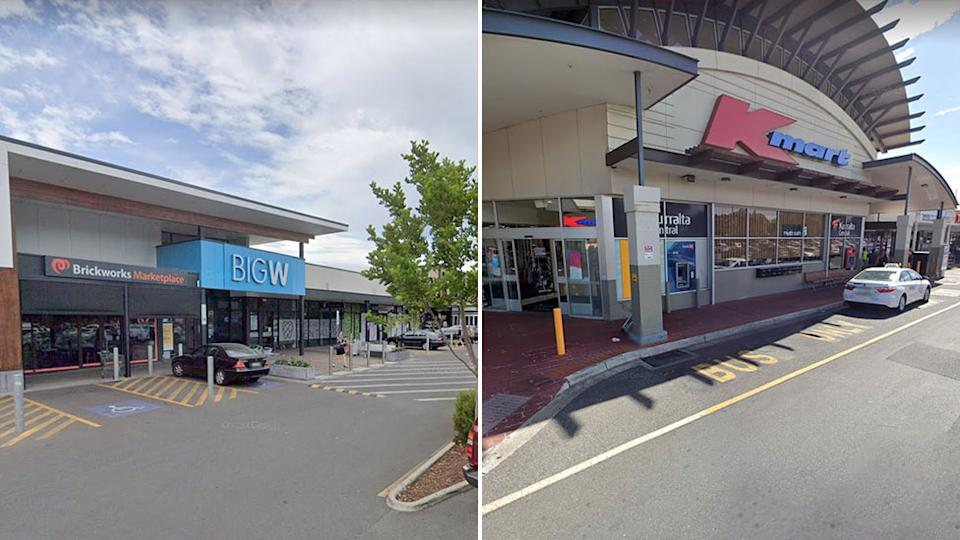 The Bg-W and Kmart stores.