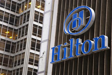 An exterior shot of the Hilton Midtown in New York