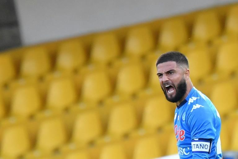 Napoli forward Lorenzo Insigne scored the equaliser after his brother Roberto's goal for Benevento