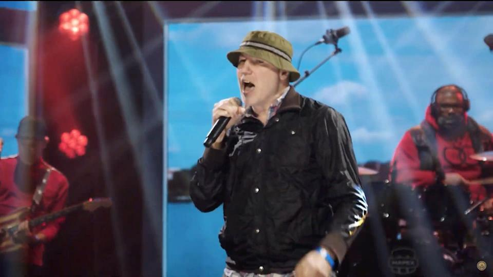 In this screengrab, Gregg Alexander of the New Radicals performs during the Virtual Parade Across America on January 20, 2021.