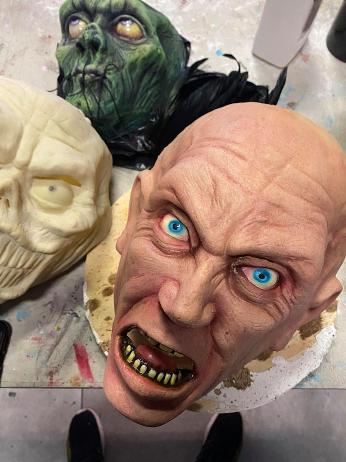 A mask in process. (Courtesy of Jason Adcock)