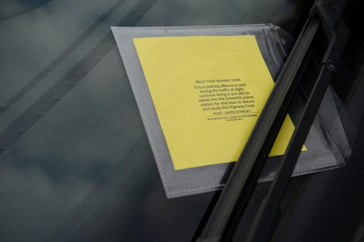 The parking ticket that has been appearing on driver's windscreens (SWNS)