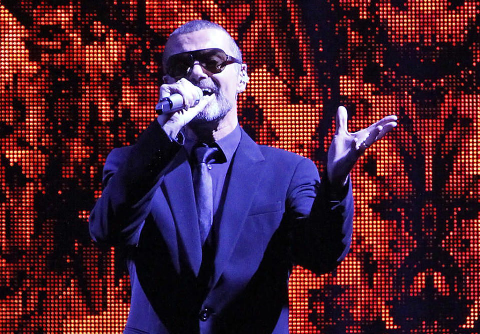 <p>George Michael performs during a concert at O2 World arena on Sept. 5, 2011, in Berlin. (Photo: Frank Hoensch/Getty Images) </p>