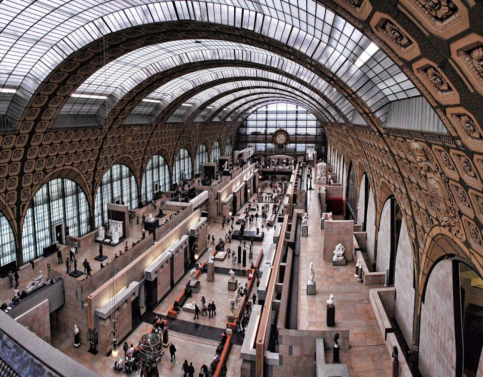 """<p>The French capital also boasts the Musée d'Orsay, a museum which holds the largest collection of impressionist and post-impressionist works in the world. The online collection allows you to feast your eyes upon a variety of works from oil paintings and canvas works, to themes surrounding impressionism and French history. </p><p><a class=""""link rapid-noclick-resp"""" href=""""https://artsandculture.google.com/partner/musee-dorsay-paris"""" rel=""""nofollow noopener"""" target=""""_blank"""" data-ylk=""""slk:Take a virtual tour"""">Take a virtual tour</a></p>"""